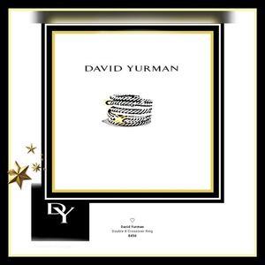 🔱'David Yurman' AUTH Double X Crossover Ring🔱6.5